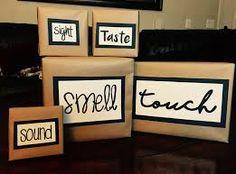 Resultado de imagen para caja de los 5 sentidos. olfato. tacto gusto vista oido