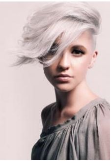 Short hair with silver icy blonde a 2013 hair color