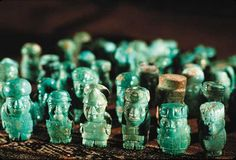 40 greenstone carvings of founding figures of the Wari Empire  (A.D. 600 - 1.000)