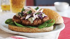 Pork Burgers with Asian Pear Slaw & Gorgonzola. The most popular variety of Asian pear available in the US is the Japanese Nijisseiki, which is more like a super juicy apple than a pear. It's perfect to offset the rich creaminess of our gorgonzola crumbles!