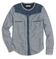 see by choé denim shirt