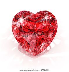 Heart Shaped Diamond Tattoo Shape Isolated