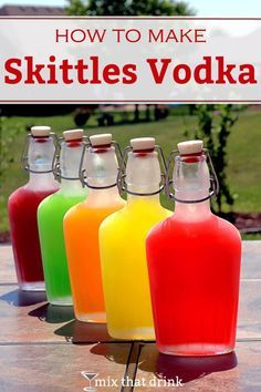 Infusing vodka with Skittles makes a fun, tasty treat for adults, and it's easy to do. The end result tastes just like the candy. Skittles Vodka makes a great homemade gift, too. And yes, you can do it with rum.