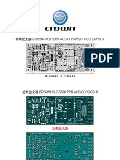 Crown Xls 5000 Audio Yiroshi Pcb in 2019 Crown Amplifier, Hifi Amplifier, Class D Amplifier, Electronics Projects, Electronics Basics, Yamaha Mixer, Electronic Circuit Design, Circuit Board Design, Subwoofer Box Design