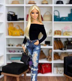 Barbie Fashionista, Barbie Collector, Barbie Dolls, Cute, Instagram, Dresses, Women, Play Houses, Vestidos