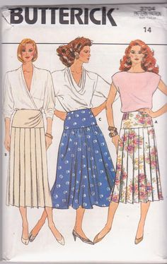 1980s vintage sewing pattern for pleated or by beththebooklady, $9.99