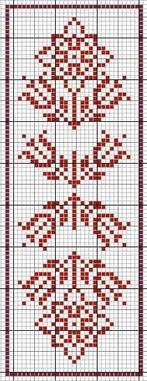 Simple Redwork Cross stitch pattern for Borders, Bookmark or as Motifs !