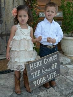 This would be my dream wedding! Completely country, relaxed, and just plain me! River would look so cute!!