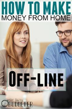 HOW TO MAKE MONEY FROM HOME OFFLINE. I really want to quit my job. But I feel like everyone's making money working online. I love the advice for starting an offline real business. I have an MLM business right now that I would love to apply this too! I'm always looking for MLM tips and tricks