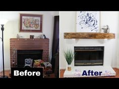 How To Build a Rustic Faux Beam Fireplace Mantel using this step by step tutorial. You can also apply this same technique to build a floating shelf. Diy Mantel, Rustic Mantle, Decor, Wooden Fireplace, Diy Shelves, Simple House, Floating Shelves Diy, Faux Beams, Diy Entryway