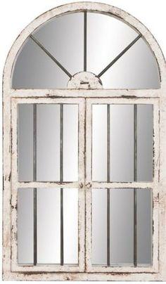 wall-mirror-faux-window-pane-arched-lounge-wood-coastal-large-glass-sale-new