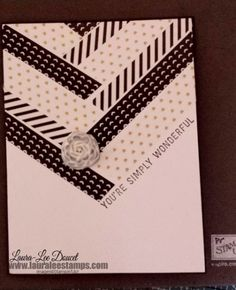 Black and White quick card using the Stacked With Love Designer Washi Tape from the Occasions catalogue. Inspired by Shelli's card at Leadership. www.lauraleestamps.com