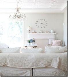 Best Paint Colors for Your Home: GRAY  I'm considering using this subtle gray in the master bedroom with everything else being white.