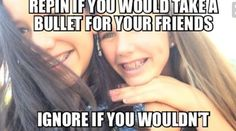 Yes I would always take a built for my friends. I don't know if some would do the same