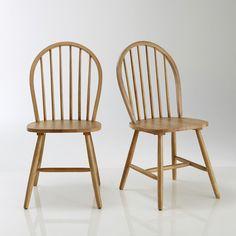 Chaise à barreaux hêtre massif, Windsor (lot de 2) La Redoute Interieurs : prix, avis & notation, livraison.  La chaise Windsor vous séduira par son esprit country folk, dans un style campagne anglaise.Description du lot de 2 chaises, Windsor :Dossier à barreaux.Assise pleine.Caractéristiques du lot de 2 chaises, Windsor :En hévéa massif naturel, vernis nitrocellulosique.Dimensions de la chaise, Windsor :Largeur : 45,8 cm.Hauteur : 94 cm.Profondeur : 50,9 cm.Assise : L44,5 x H45 x P42,8…