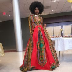 Student Kyemah McEntyre in a prom dress of her own design