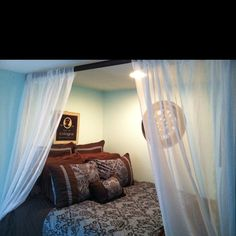 """My version of """"bed in a closet"""" or alcove bed!:)"""