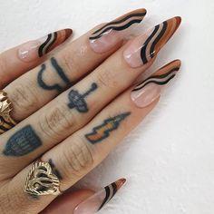 Nail Design Stiletto, Nail Design Glitter, Homecoming Nails, Funky Nails, Fire Nails, Minimalist Nails, Nagel Gel, Best Acrylic Nails, Acrylic Art