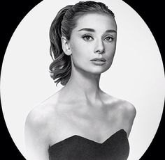 This isn't the original photograph, but I love this edit because it gives a realistic look of Audrey with longer hair.