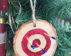 Shotgun Shell Ornaments by SomethingOuttaNothin on Etsy Fish Ornaments, Shell Ornaments, Wood Ornaments, Diy Christmas Ornaments, Holiday Crafts, Christmas Decorations, Christmas Ideas, Ammo Crafts, Diy Crafts