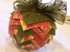 Christmas acorn origami tree decoration bauble ornament