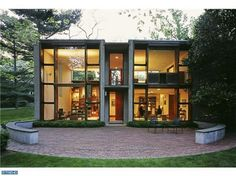 It's so beautiful! Designed by Louis Kahn. Oh how I wish I could walk through this house.