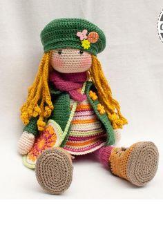 вязаная кукла Ида
