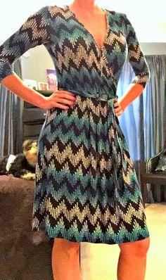 June 2015 Stitch Fix Review: Market & Spruce Ohara Faux Wrap Tie-Waist Dress.  Would prefer different colors