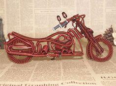 100 Handmade aluminium wire Harley Motormotorcar by WireAreShop, $60.00