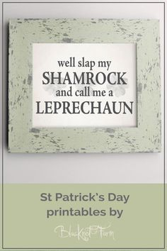 Easy digital printable Irish decor for St Patrick's Day! Check out the other designs at Blacknot Farm on Etsy!