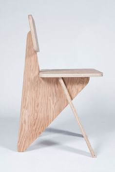 "Michael Boyd ""Arrowhead"" side chair from the ""WEDGE"" series 2011 Cardboard Furniture, Wooden Furniture, Furniture Plans, Cool Furniture, Furniture Design, Furniture Assembly, Furniture Online, Luxury Furniture, Office Furniture"