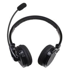TopOne BlackStereo Dual Ear Bluetooth Wireless Handsfree Foldable Headphones Over the Head Boom Mic Microphone and 12 Hour Talk Time  4 x Noise Cancelling for Cell PhonesComputers -- Check out this great product.