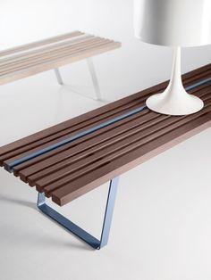 Ash bench / coffee table LINE BENCH - @lacividina