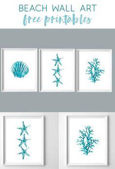 beach printables   summer art   wall art   wall decor   turquoise   aqua   art   coastal   fixer upper beach wall art