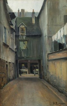 Santiago Rusiñol i Prats - Calle de Rouen en Paris