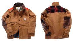 Comme des Garcons Junya Watanabe eYe x Carhartt Jacket Sweater Jacket, Rain Jacket, Motorcycle Jacket, Military Jacket, Carhartt Jacket, Junya Watanabe, Windbreaker, Street Wear, Menswear
