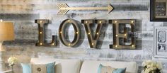 Nothing says movies like marquee lights! Add a unique touch to your media room with our Wood and Metal LED Monogram Plaques. Just add batteries to light them up!
