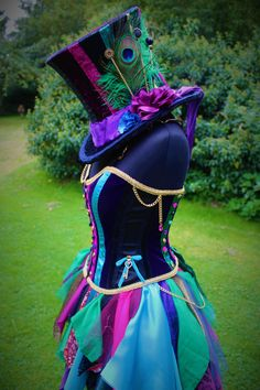 Full Mad Hatter Costume. Custom made fancy dress by Faerie In The Foxglove.