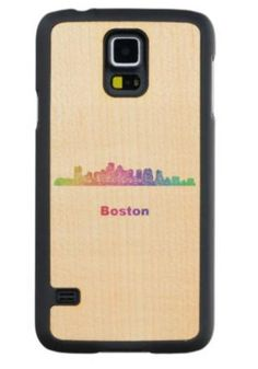 Rainbow Boston skyline Maple Galaxy S5 Slim Case $49.65 *** boston - boston massachusetts - boston skyline - massachusetts - rainbow - city - skyline - color - cityscape - mass - downtown - boston ma - silhouette - contour - landmarks - skyscrapers - art - line - curved - Samsung Galaxy S5 wood case