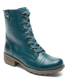 Cobb Hill Blue & Teal Bethany Leather Boot | zulily