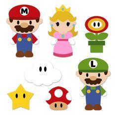 Super Mario Bros, Super Mario Party, Super Mario Birthday, Mario Birthday Party, Super Mario Brothers, Princess Peach Party, Mario Y Luigi, Tarjetas Diy, Diy Party