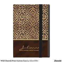 ipad mini cover, Wild Cheetah Print Custom Case, ipad cover, ipad case, gift for her, add your name