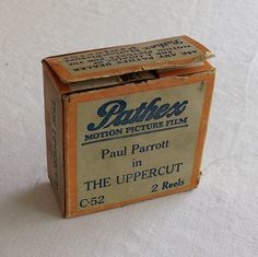 """Pathex Films C-52 """"THE UPPERCUT""""  a Hal Roach 2 Reel Comedy, 9.5mm Silent Movie Starring Paul Parrot by CoolOldStuffIFound on Etsy https://www.etsy.com/listing/269997100/pathex-films-c-52-the-uppercut-a-hal"""