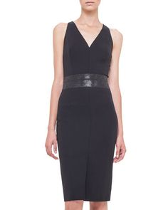 Swarovski Crystal-Embellished Sheath Dress, Black by Akris at Neiman Marcus.