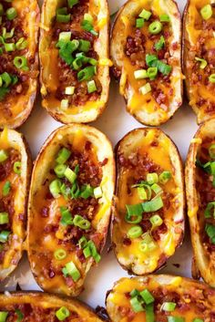 game day food Loaded Potato Skins are easy, cheesy and my favorite appetizer recipe for parties and football food. These homemade potato skins are baked crispy, loaded with cheese, bacon Bite Size Appetizers, Appetizers For Party, Appetizer Recipes, Potato Appetizers, Potato Skins Appetizer, Super Bowl Appetizers, Superbowl Party Food Ideas, Camping Appetizers, Best Superbowl Food
