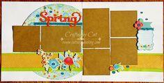 CatScrapbooking: #Blossom Workshop - Layout Two ~ Spring #ArtPhilosophy #Artbooking