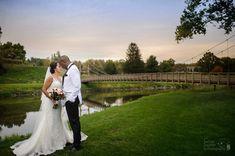Photo Credit: Chris Carter Photography #Bridge #FallWedding #JustMarried
