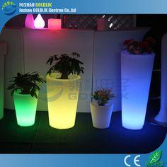 music player link in wedding event decoration plastic led pot www.goldlik.com