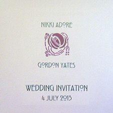 Charles Rennie Mackintosh Wedding invitation Sample