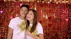 "This is the handsome Daniel Padilla and the pretty Kathryn Bernardo smiling for the camera while singing ""Tuwing pasko, oh woah, oh woah, Mas ramdam mo, oh woah, oh woah, Dama sa ating tinig ang init ng pag-ibig, oh woah woah"" during the taping and recording of the 2015 ABS-CBN Christmas Station ID, ""Thank You for the Love!"" #DanielPadilla #KathrynBernardo #KathNiel #KathNielBernaDilla #ThankYoufortheLove #ABSCBNChristmasStationID"
